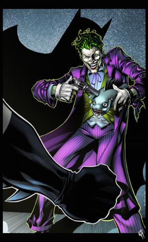 Joker Comic Book Art The jokers gamble coloured by