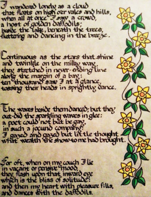 Romantic Poems In Spanish Daffodil poem in italian