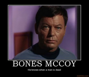 ... here from the real mccoy unless it s bones mccoy of star trek fame