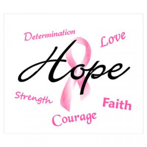 ... > Wall Art > Posters > Courage Faith Love Hope 5 (Pink) Poster