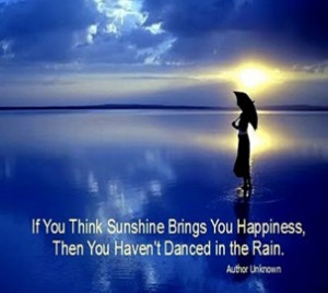 there is always sunshine after the rain a time of sweet relief after a ...