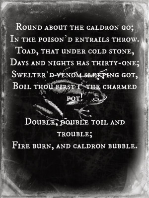 Shakespeare Halloween: Toil and Trouble Printable