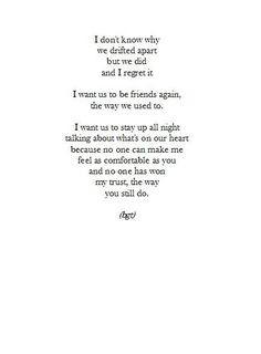 Bffs @Lisa Mencias I know we didn't drift apart but I like the last ...