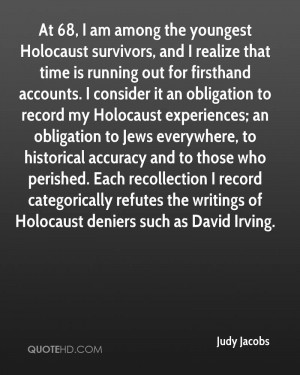 At 68, I am among the youngest Holocaust survivors, and I realize that ...