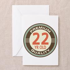 22nd Birthday Vintage Greeting Card for
