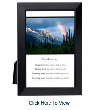 excellence quotes framed inspirational quote