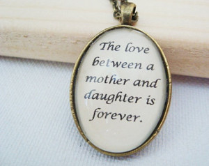 the love between a mother and daughter is forever, mother jewelry ...