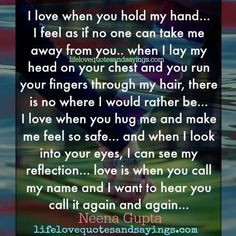 Hug Me Quotes Sayings I love when you hug me and