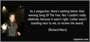 More Richard Marx Quotes