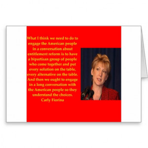 Carly Fiorina quote Greeting Card