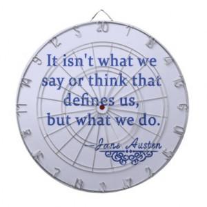 Jane Austen Quote What Defines Us Dartboards