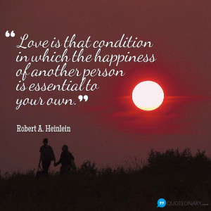 Robert A. Heinlein #quote about love