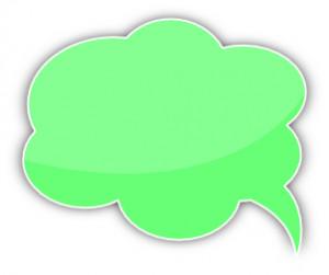 speech bubble cloud green left Clipart