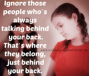People Talking Behind Your Back Quotes