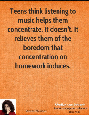Teens think listening to music helps them concentrate. It doesn't. It ...