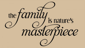Catalog > Family Nature's Masterpiece, Family Wall Art Decal