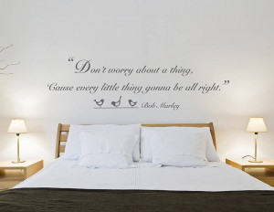 Don't Worry' Quote Wall Sticker