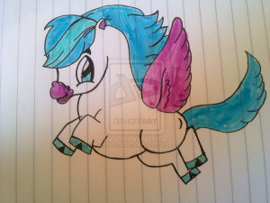 Cartoon Black Pegasus Stock...