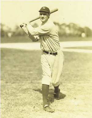 Earle Combs hitting spring training circa 1927