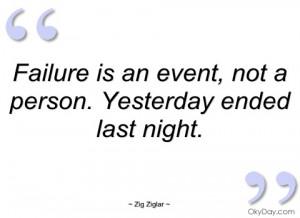 failure is an event zig ziglar