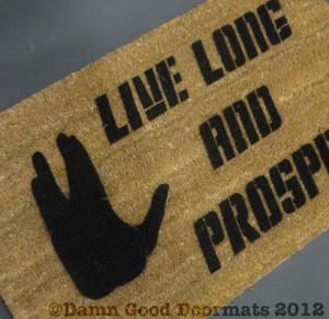 Star Trek quote Live Long and Prosper Vulcan Door mat outdoor ...