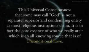 This Universal Consciousness that some may call God