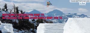 Snowboard quote cover