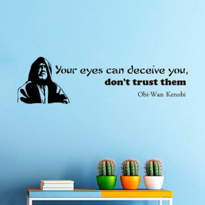Wall Decals Obi Wan Kenobi Star Wars Quote Decal by WisdomDecals