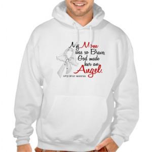 Angel 2 Mom Lung Cancer Hoody