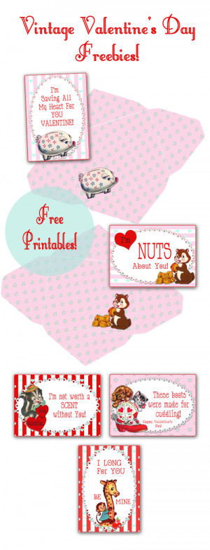 FREE Vintage Valentines Card and Envelopes