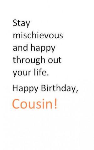 Happy Birthday To My Cousin Quotes