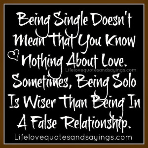 quotes about being single