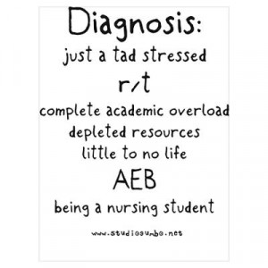 CafePress > Wall Art > Posters > Tad Stressed Student Nurse Poster