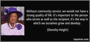 More Dorothy Height Quotes