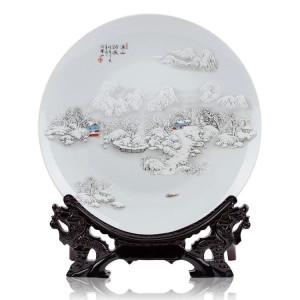 China-Jingdezhen-ceramics-snow-decorative-plate-famous-quotes ...