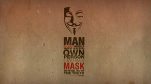 anonymous minimalistic text quotes typography masks oscar wilde guy ...