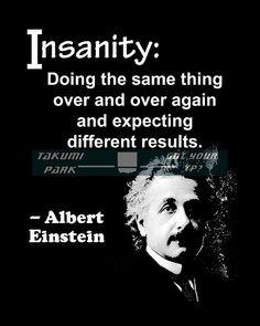 Albert Einstein, quote art, office decor, cubicle decor, insanity ...