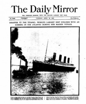 How the sinking of the Titanic was reported