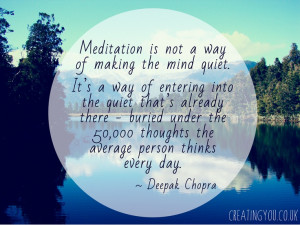 ... average person thinks every day deepak chopra # meditation # quotes