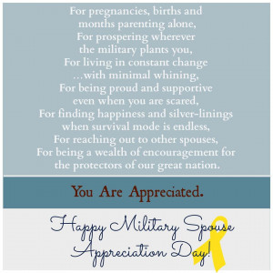 Source: Whitehouse.gov Military Spouse Appreciation Day