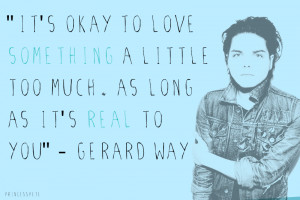 Gerard Way Quote Blue by MikeyChemicalWay