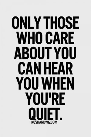 Those who really care
