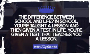 School Spirit Quotes And Sayings The difference between school