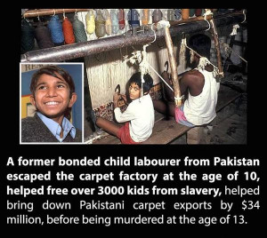 Iqbal Masih - a symbol of abusive child labor in the developing world ...