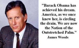 Thank you Mr. Woods... much respect sir. It's well known James Woods ...