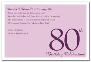 Numeral Card Blue Birthday Invitations