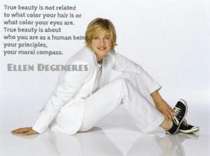 Ellen degeneres, celebrity, actress, lady, about beauty, quotes