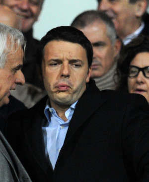 Matteo Renzi Matteo Renzi Mayor of Florence during the Serie A match