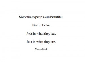 Sometime people are beautiful quote