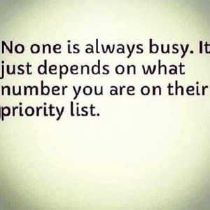 no one is always busy